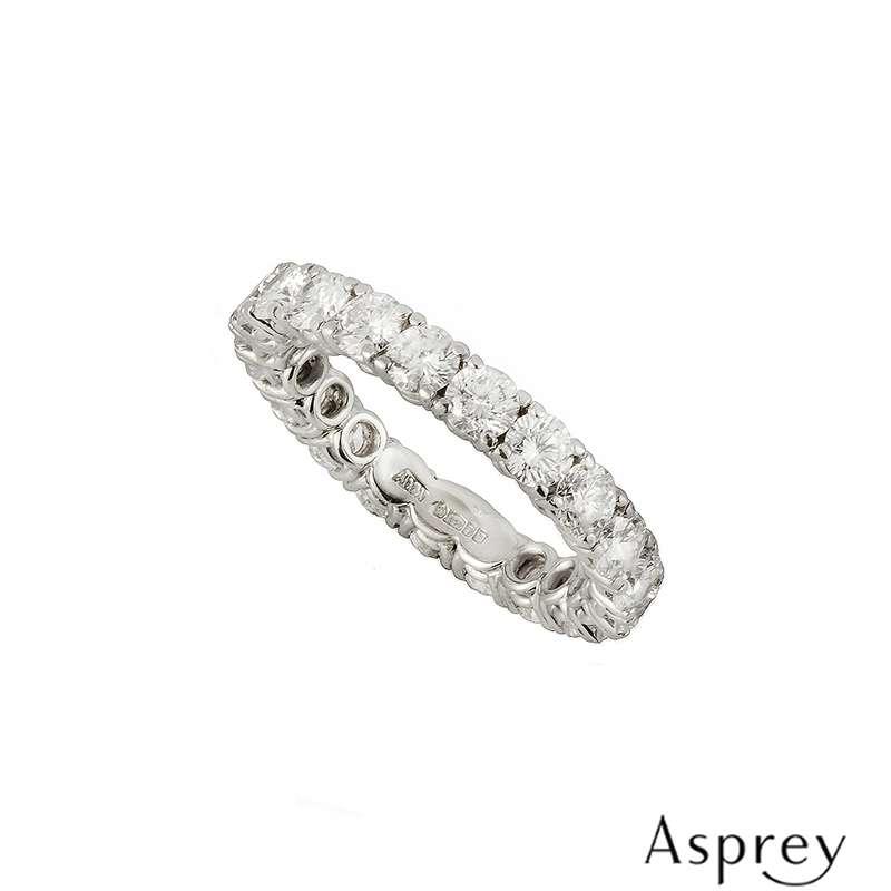 Asprey Full Diamond Eternity Ring in Platinum